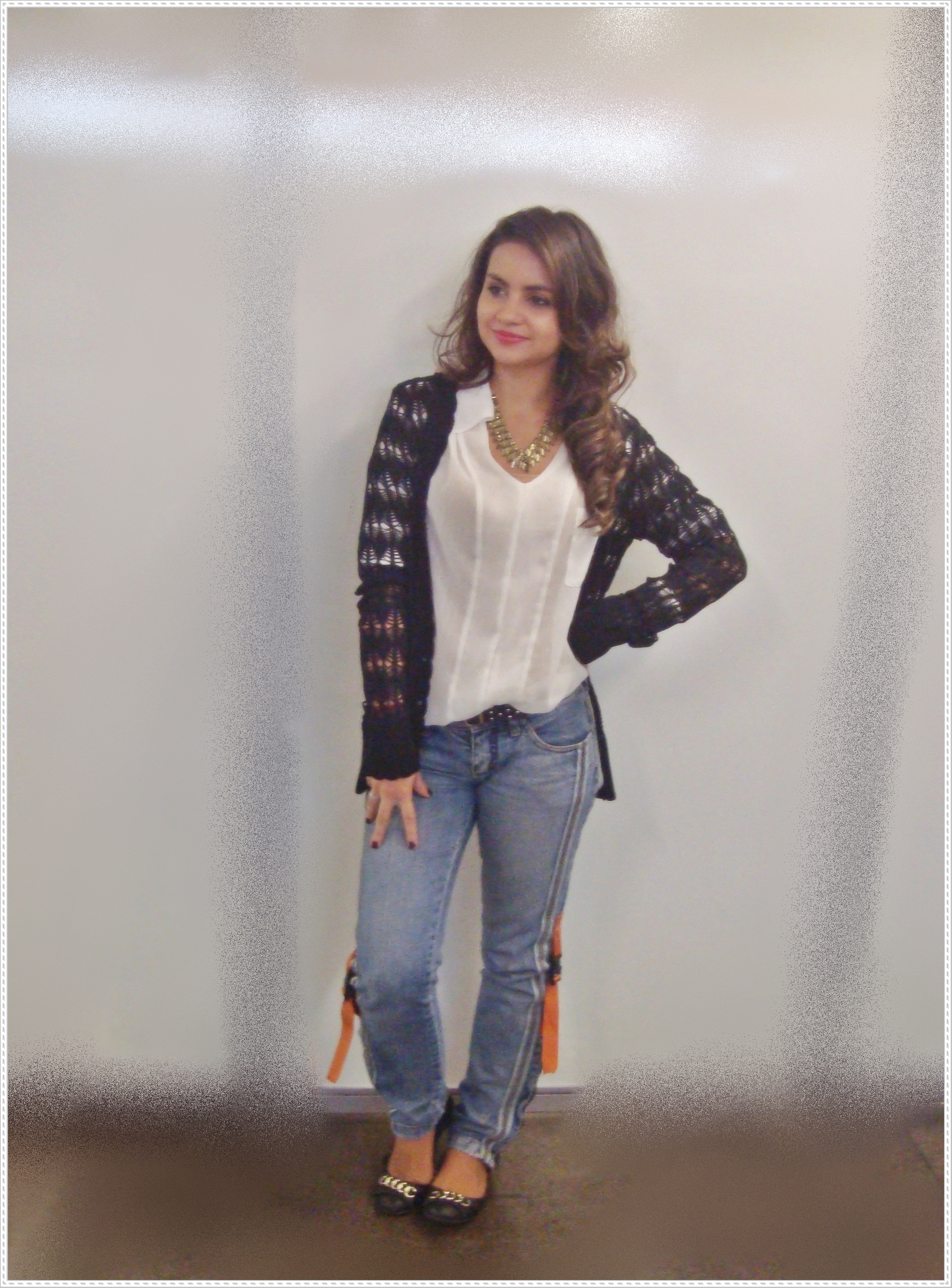 dsc059301 Look do dia! Basic - Camisa + Jeans + Cardigan