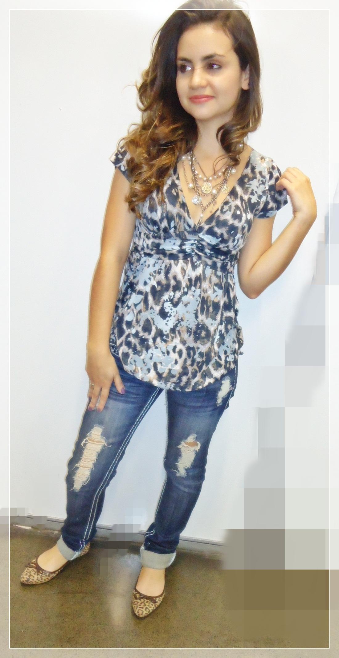dsc00522 Look do dia: Jeans Destroyed + onça