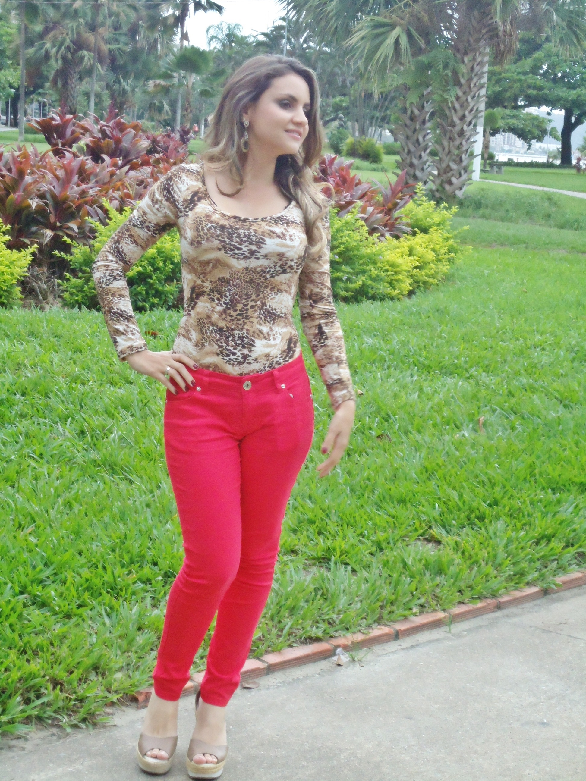 dsc06250 Look do Dia: Body animal print + vermelho!