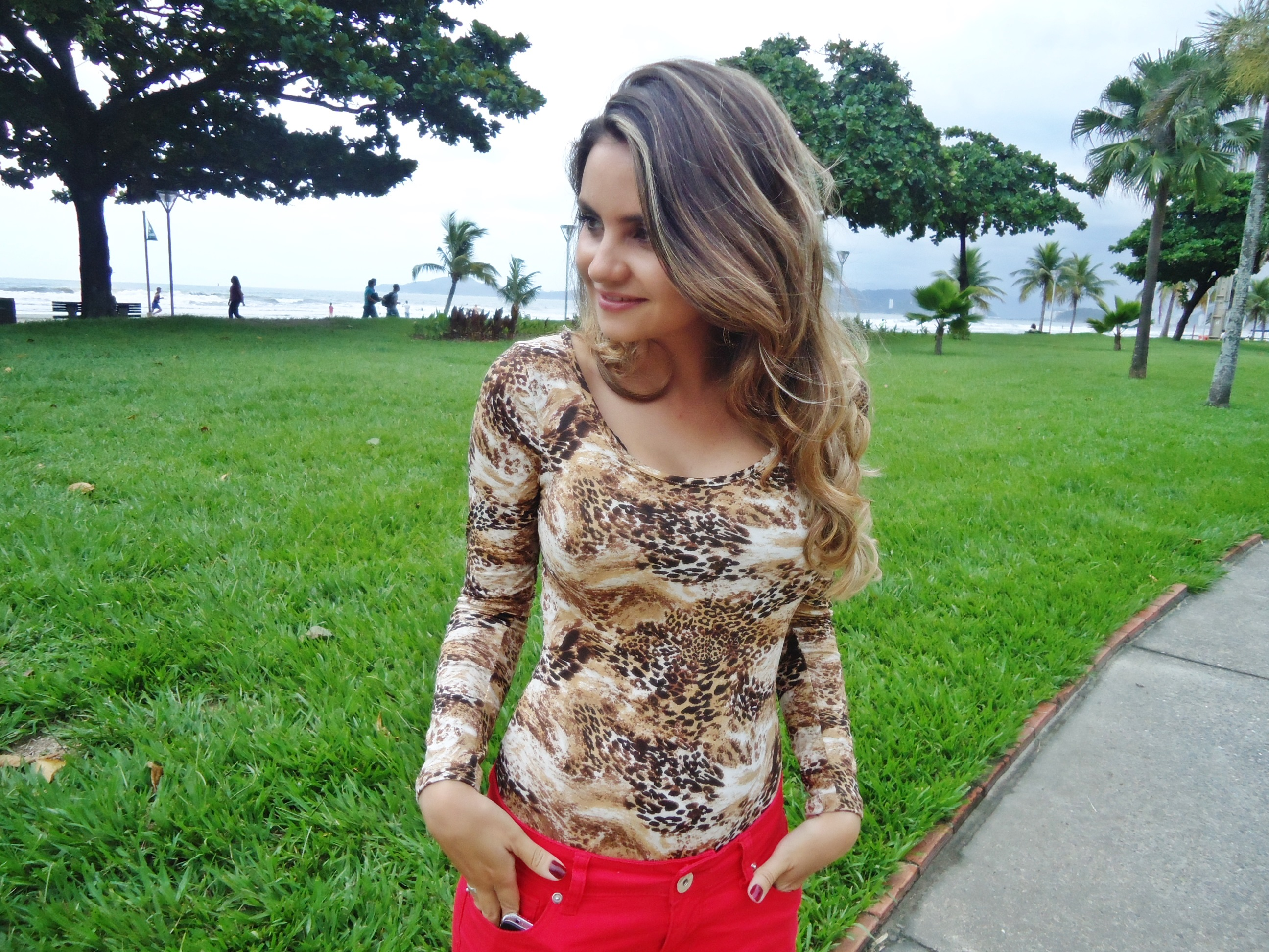 dsc06254 Look do Dia: Body animal print + vermelho!