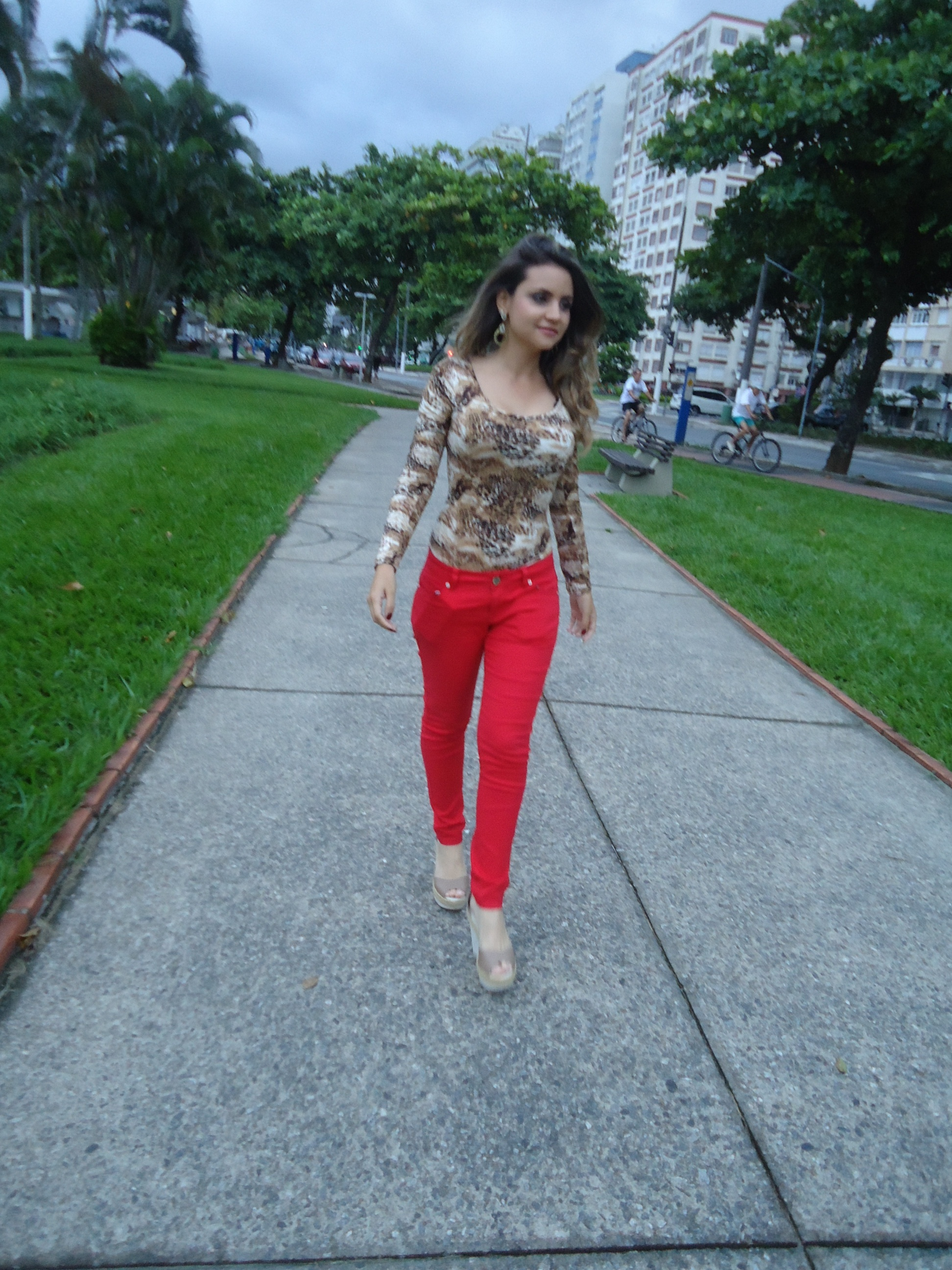 dsc06288 Look do Dia: Body animal print + vermelho!
