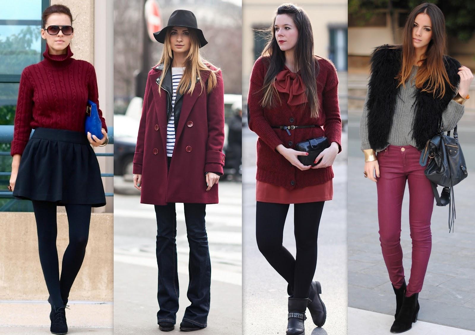 roupas-bordo1 Inspiração looks de Inverno : Vermelho