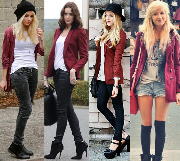 roupas-bordo6 Inspiração looks de Inverno : Vermelho
