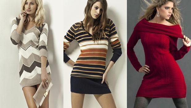 vestidos-outono-inverno-2013-fotos Inspiração Outono inverno Usando Vestidos