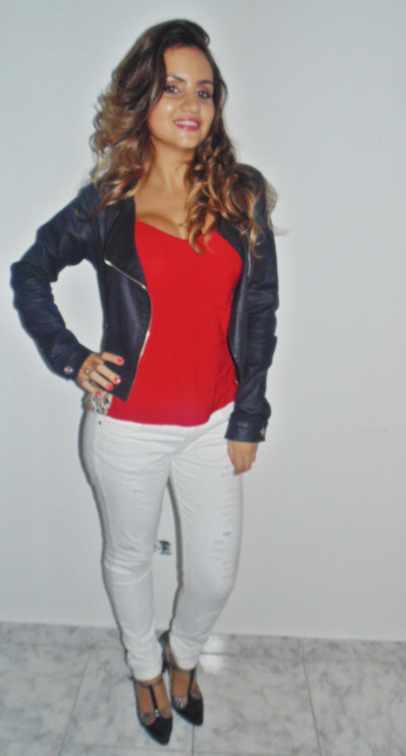 dsc01095 Look: Outono de calça branca + vermelho