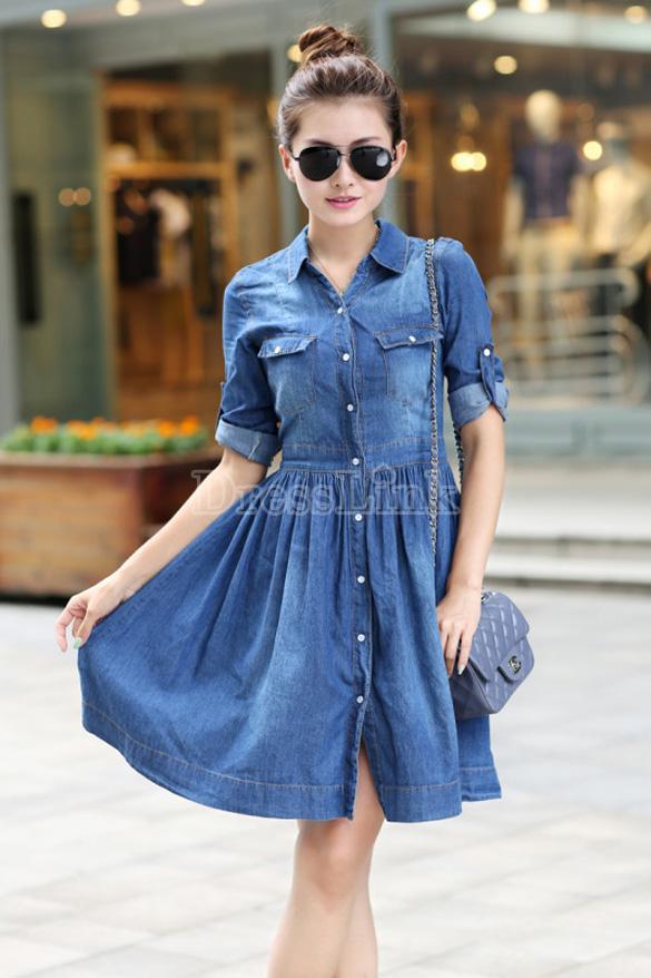 sv006295-3 Achados da China: Onde Comprar vestido jeans