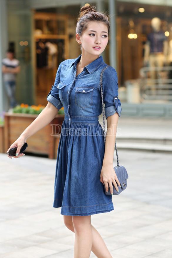 sv006295-5 Achados da China: Onde Comprar vestido jeans