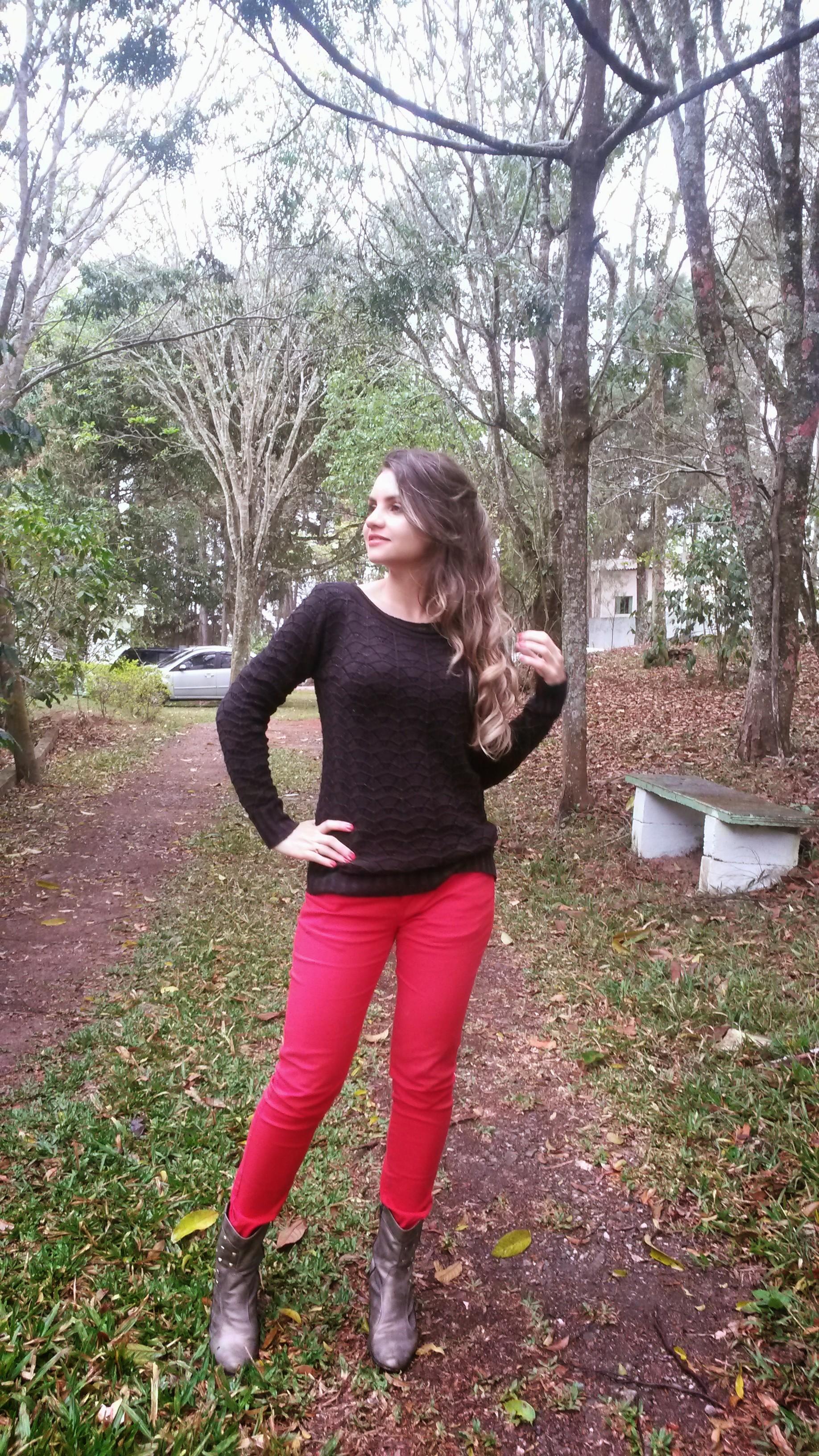 20140920_154349 Look do dia> Calça Vermelha + tricot