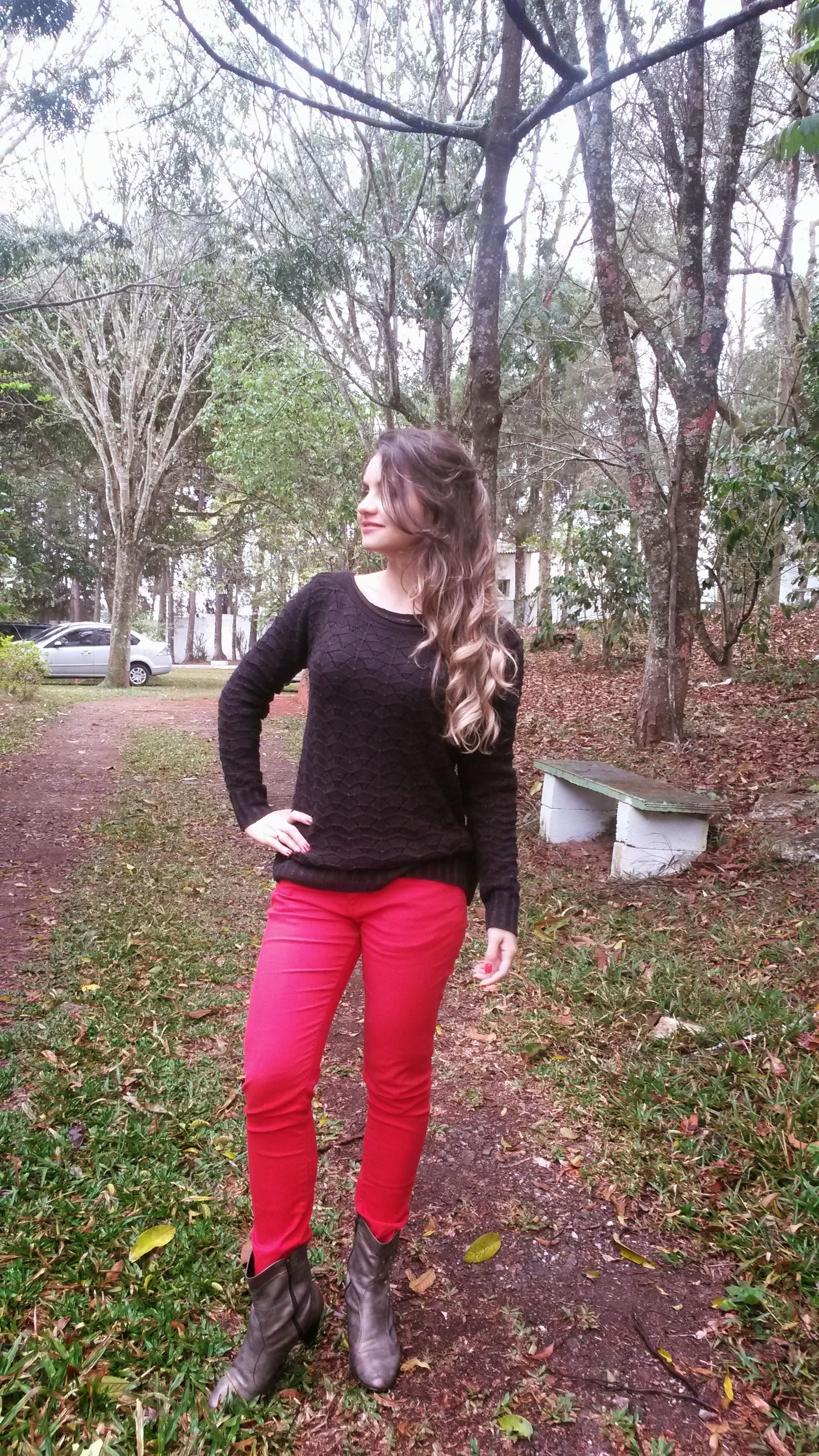 20140920_154354 Look do dia> Calça Vermelha + tricot