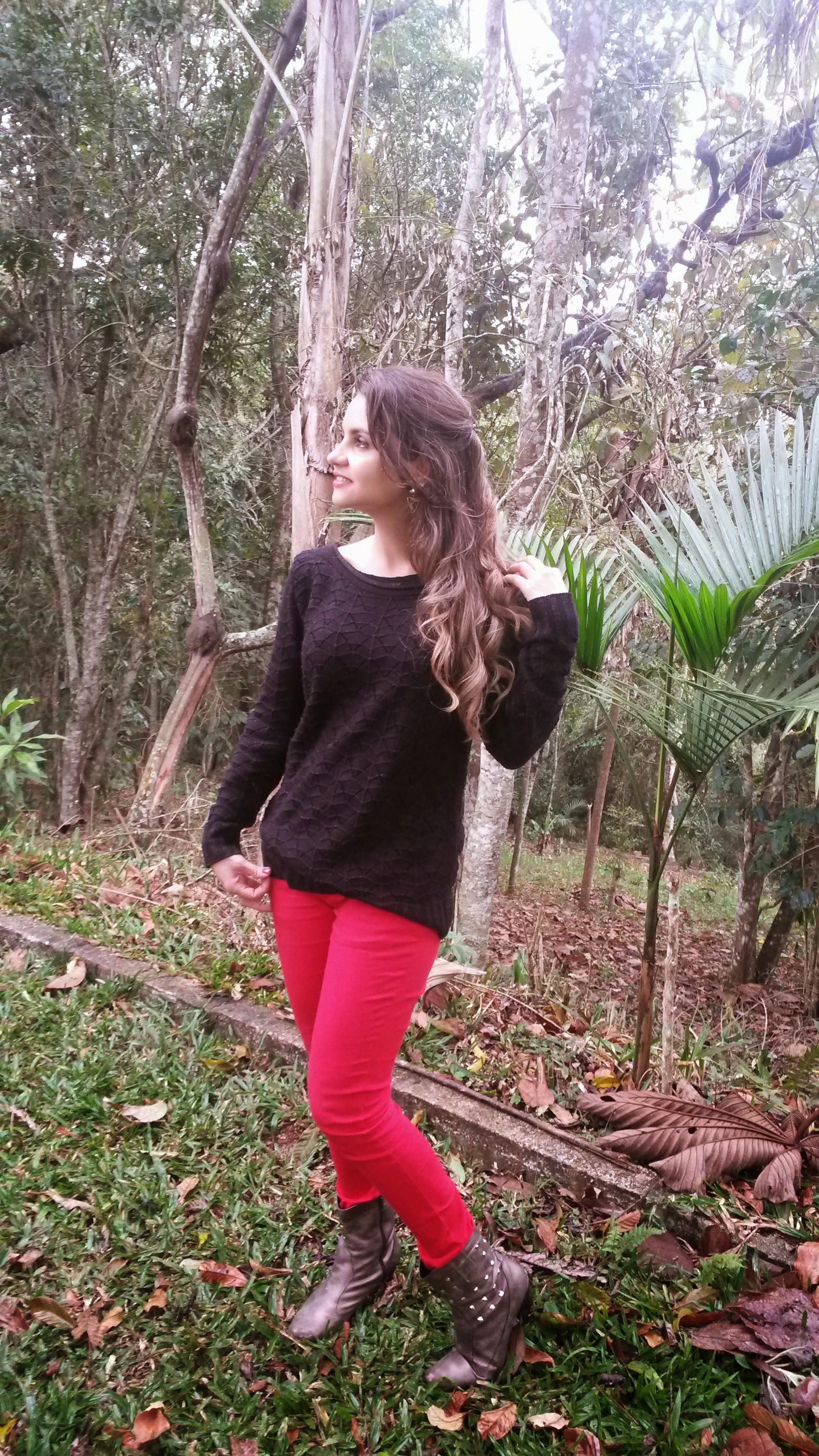 20140920_154548 Look do dia> Calça Vermelha + tricot