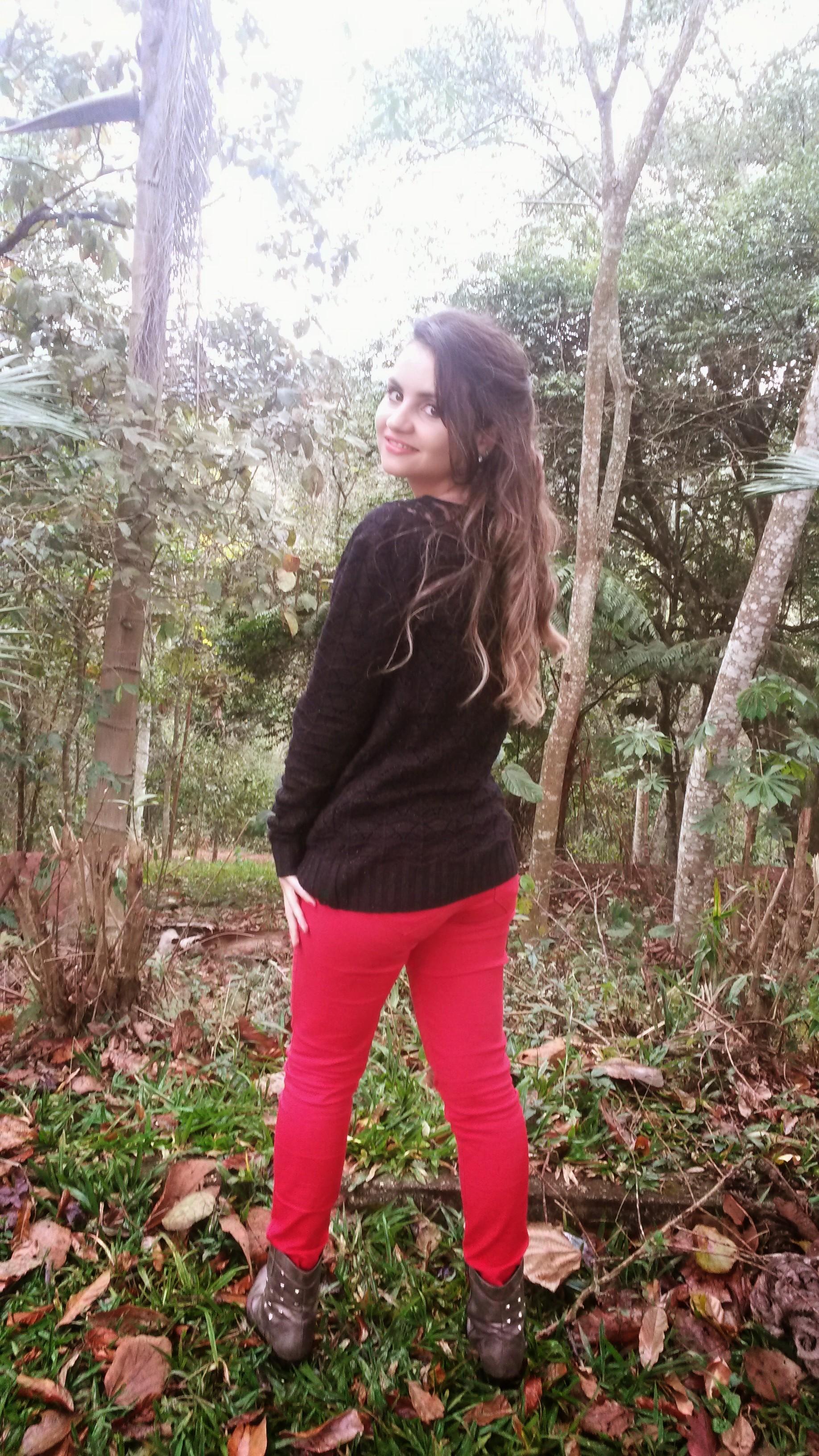20140920_154637 Look do dia> Calça Vermelha + tricot