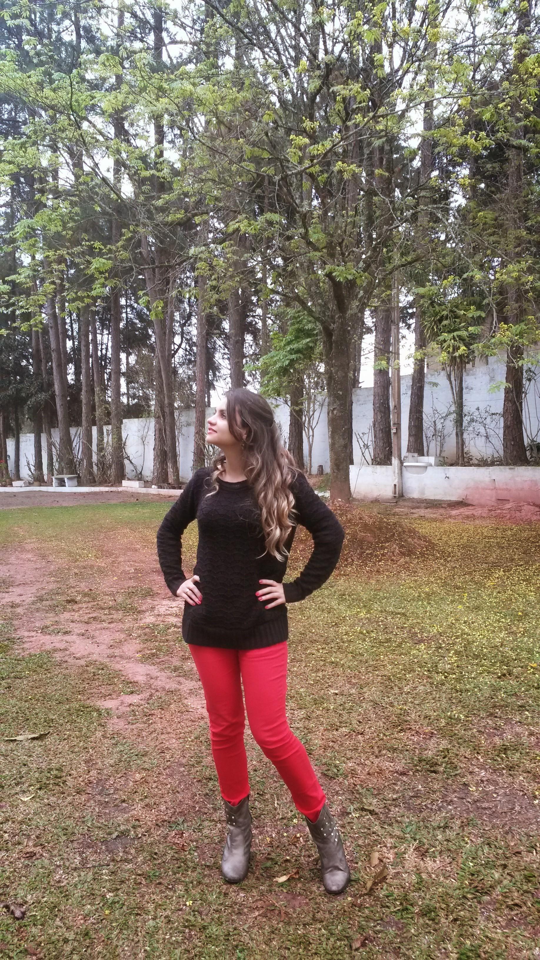 20140920_154833 Look do dia> Calça Vermelha + tricot