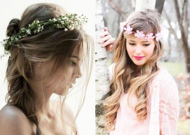 tiara-com-flores Cabelos  e Penteados de Verão 2015
