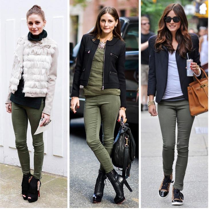 olivia-palermo-calca-verde-militar-les-styles Moda de Rua: Marcha Militar