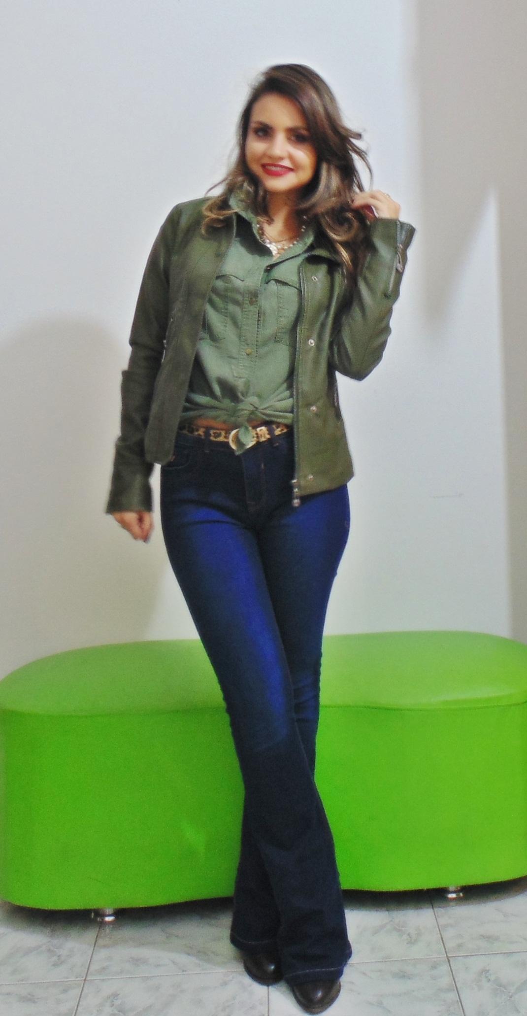 DSC02228 Look da Ka: Flare Jeans + Militar