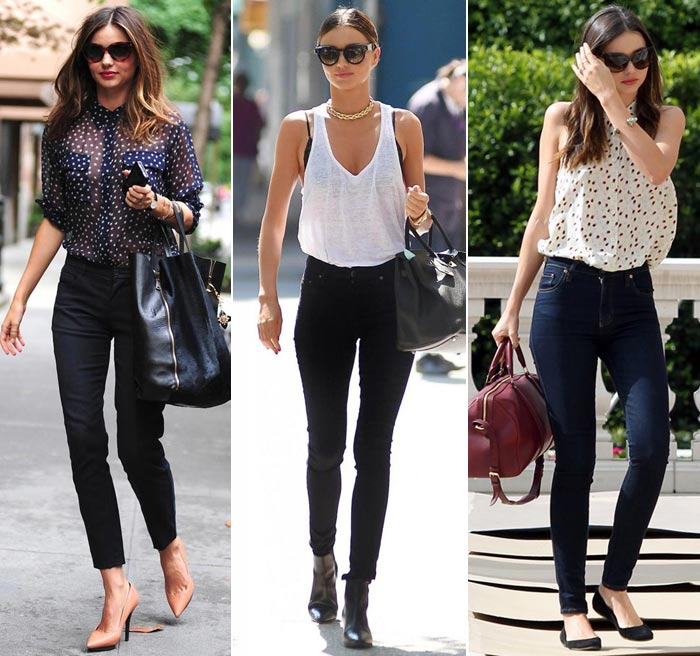 Celebridades-Miranda-kerr-calça-cintura-alta Moda de Rua: Calça cintura alta skinny