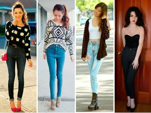 Cintura-alta-02 Moda de Rua: Calça cintura alta skinny