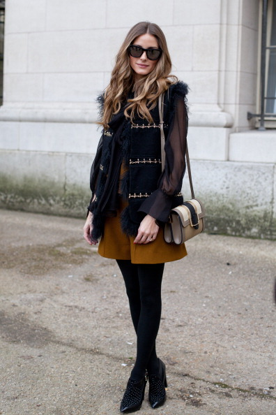 PARIS__FRANCE_-_MARCH_02_Actress_and_model_Olivia_Palermo_wears_all_Chloe_on_day_6_of_Paris_Collections Looks para usar em viagens no inverno