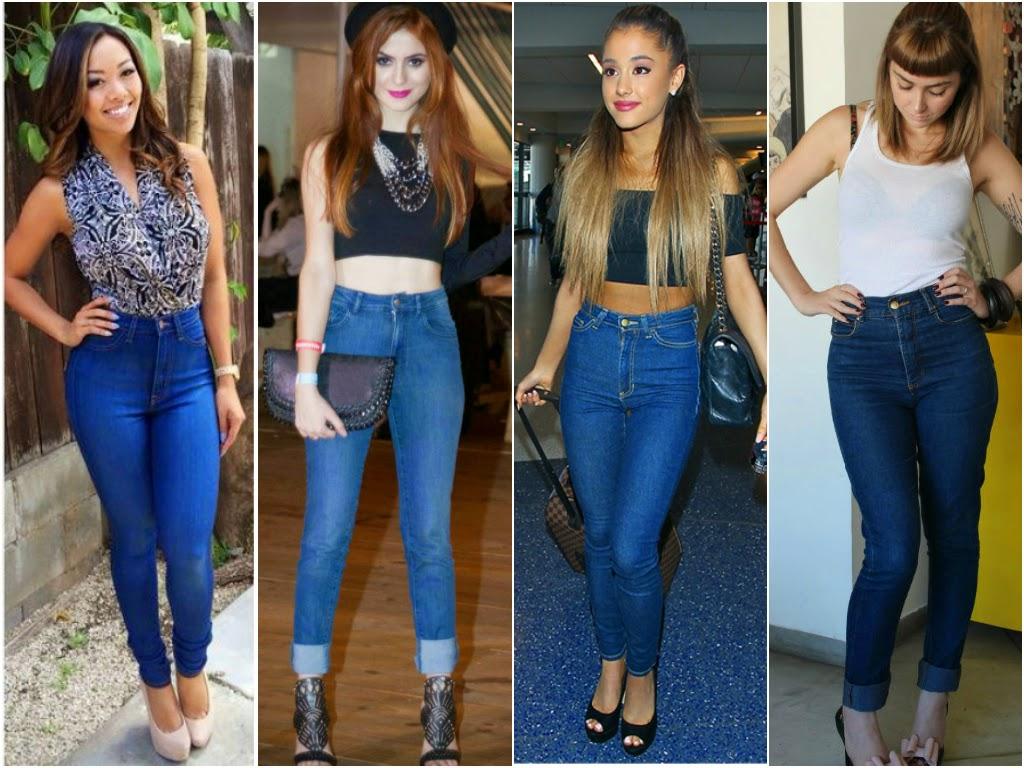a Moda de Rua: Calça cintura alta skinny