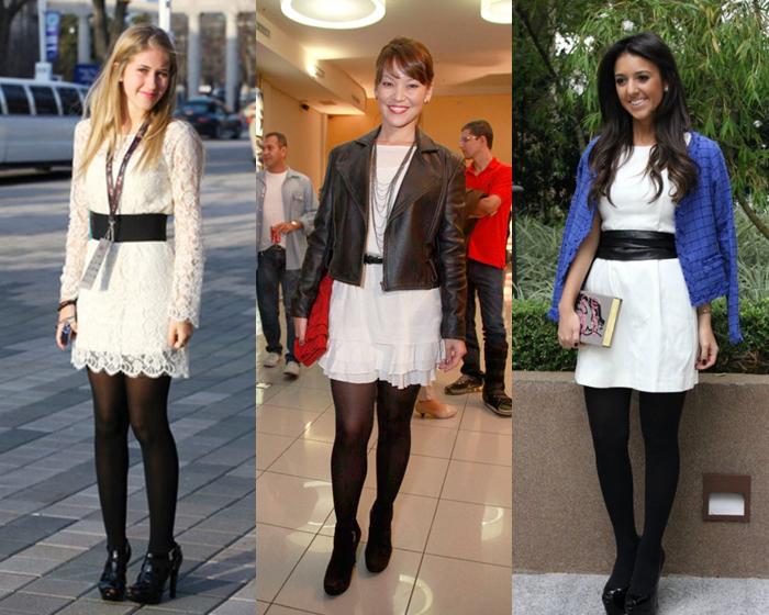 vestido-branco-com-meia-calça-1 Inspiração de looks para Feriado de Inverno