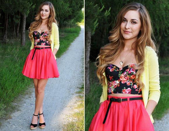 como-usar-saia-de-cintura-alta-rodada Moda de Rua: Cintura alta marcada no verão 2016