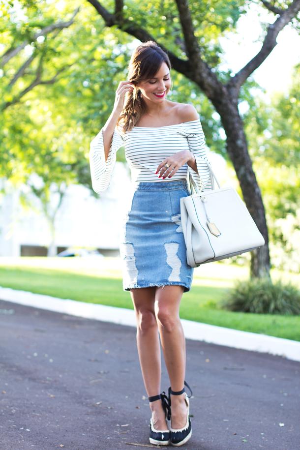 3-listrado Moda de rua : Vestido e Blusas Ombro a Ombro Verão 2016