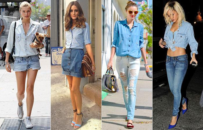 jessica-harOlivia-palermoMiranda-kerrRihanna Moda de rua: Jeans em tudo!