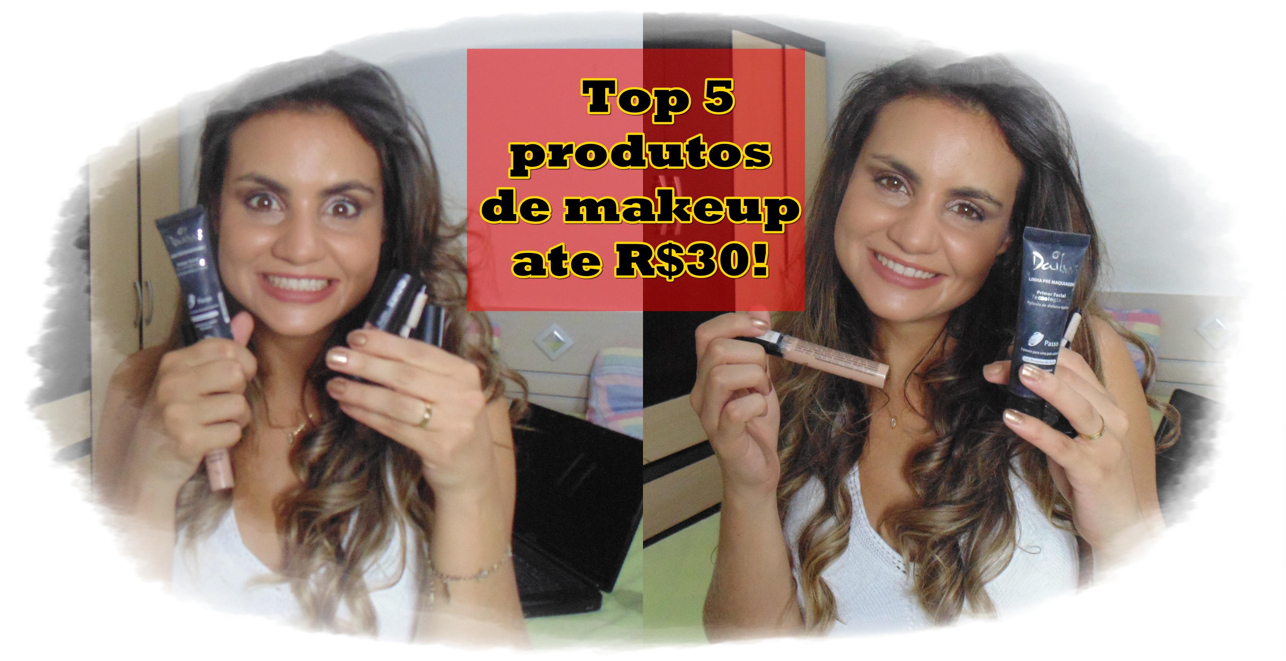 top-5 Video: Top  5 produtos baratinhos de beleza até R$30!