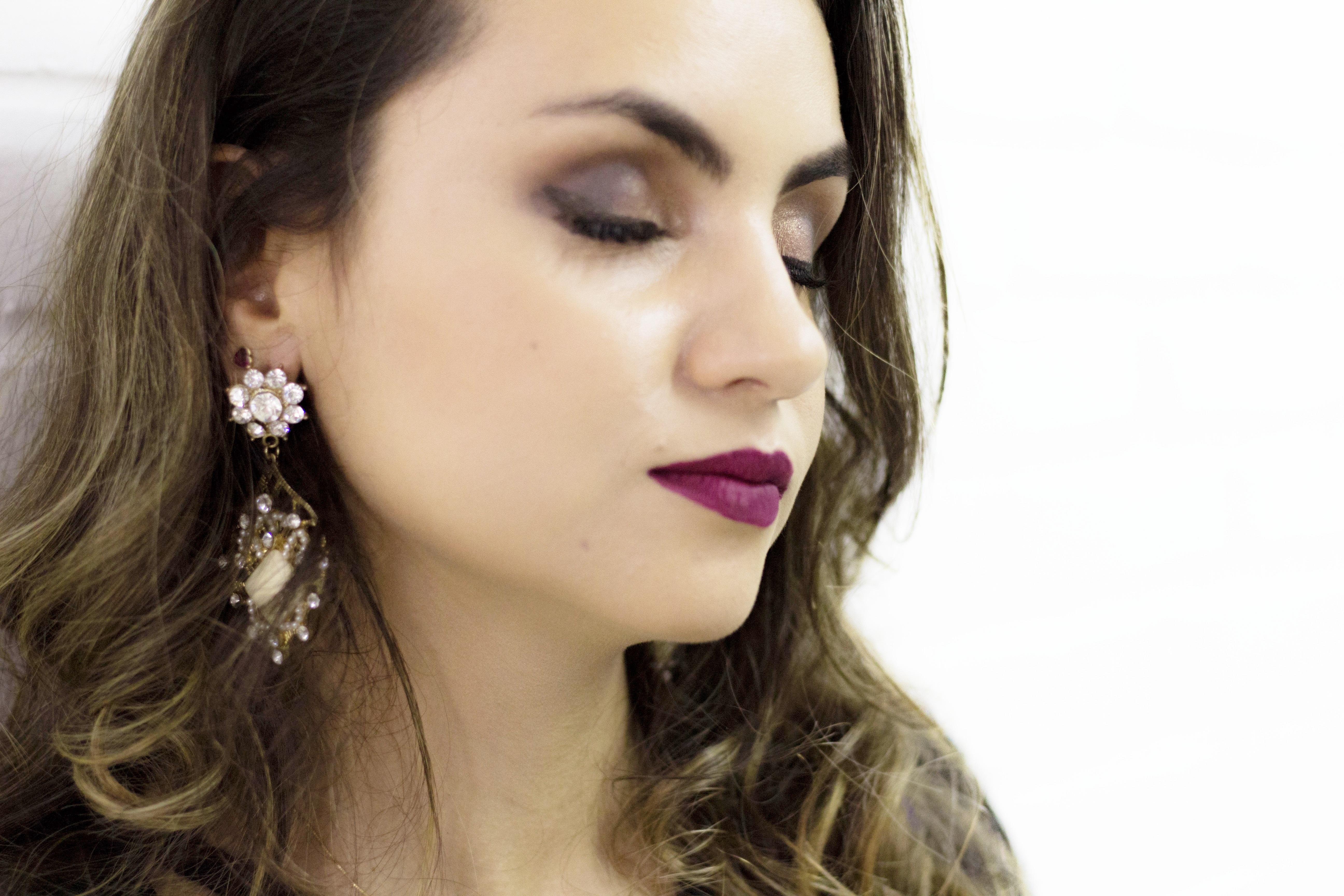 IMG_2044 Look da Ka: Saia Lápis + Kimono e makeup