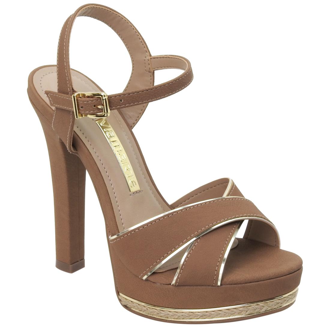16-11803-CAMEL-DOURADO Moda de rua: Tenis e sapatos Metalizados