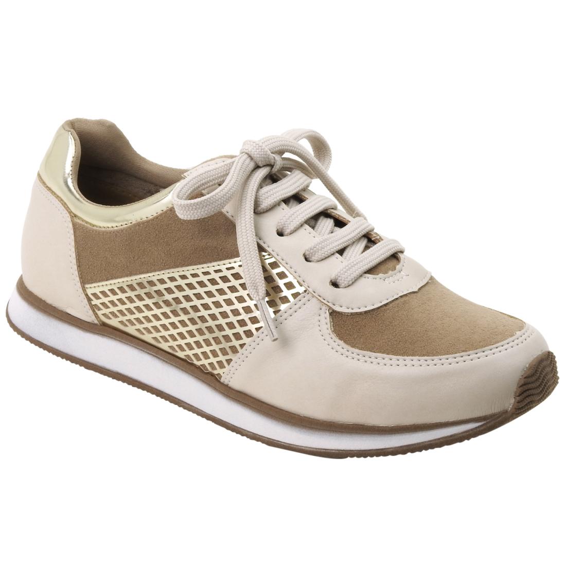 16-12502-OFF-WHITE-GENGIBRE-DOURADO Moda de rua: Tenis e sapatos Metalizados