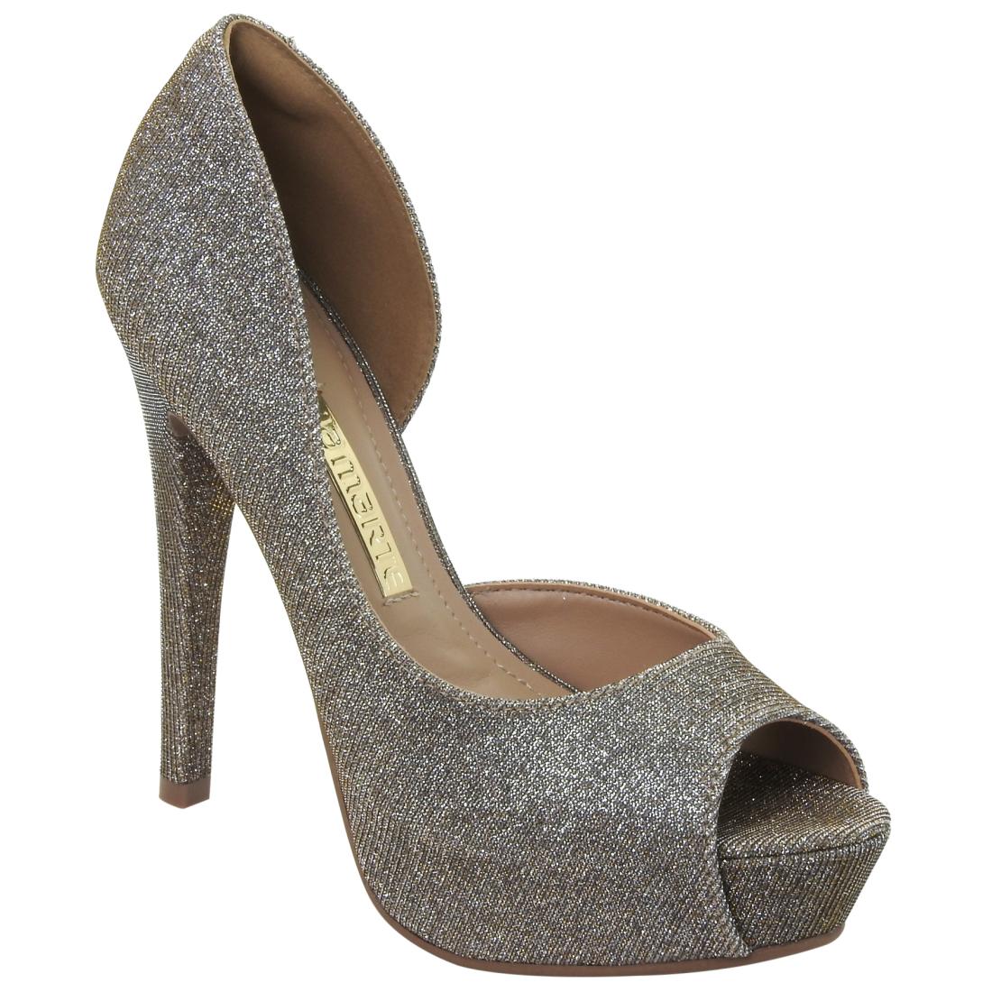 16-14402-OURO Moda de rua: Tenis e sapatos Metalizados