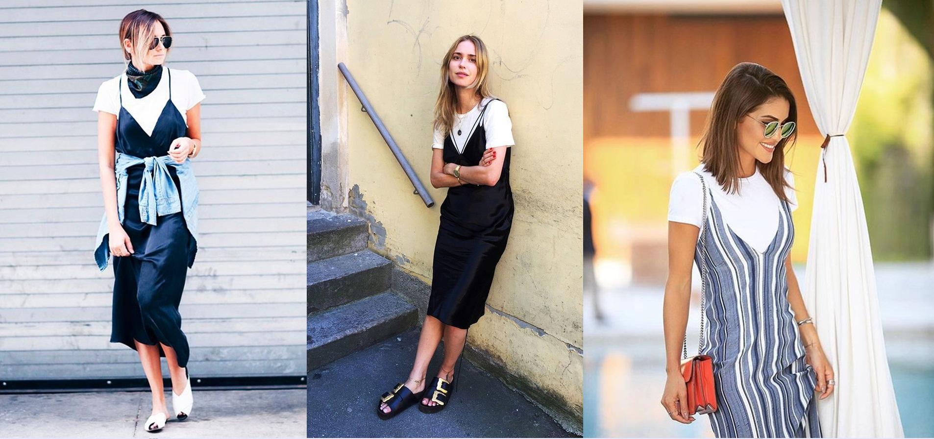 slip-dress Moda de rua: 5 trends para usar no Look do Trabalho