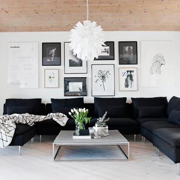 """3107-IMG-05 Missão quem casa quer casa: Decoração das paredes com vários quadros - """"paredes galeria"""""""