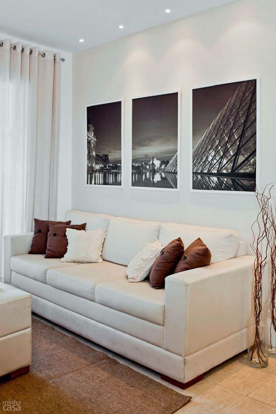 """8a6b4f4ff9d095fb0a96061bdfca8726 Missão quem casa quer casa: Decoração das paredes com vários quadros - """"paredes galeria"""""""