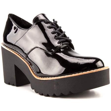 Oxford-Feminino-Summer-Tratorado-Verniz-Preto-1- Moda de rua: Onde encontrar o sapato Oxford forte tendencia de inverno 2017!